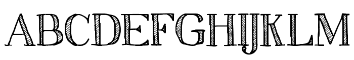 Sketch Serif Font UPPERCASE