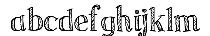 Sketch Serif Font LOWERCASE