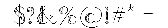 Sketch Toronto Font OTHER CHARS
