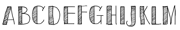 Sketch Toronto Font UPPERCASE