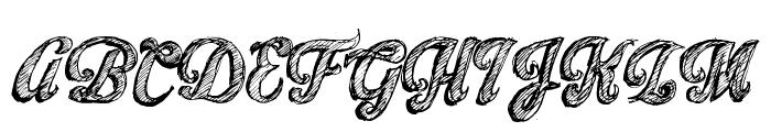 Sketch Toska Font UPPERCASE
