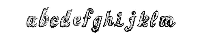 Sketch Toska Font LOWERCASE