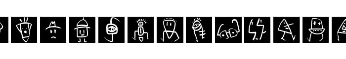 SketchBats invers Font UPPERCASE