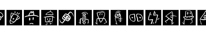 SketchBats invers Font LOWERCASE