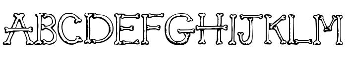 SketchBones Font UPPERCASE