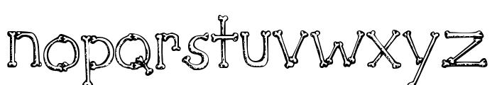SketchBones Font LOWERCASE