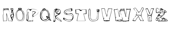 SketchClothes Font LOWERCASE