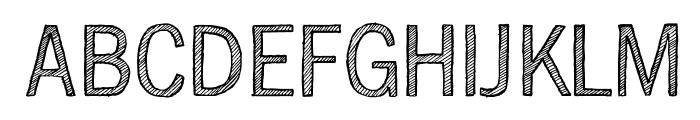 SketchGothic-Light Font UPPERCASE
