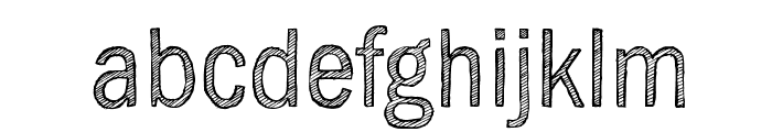 SketchGothic-Light Font LOWERCASE