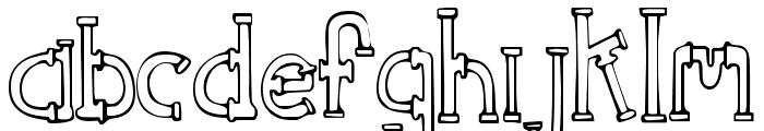 SketchPipes Font LOWERCASE