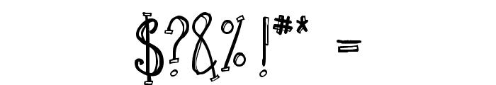 Sketchbook Font OTHER CHARS