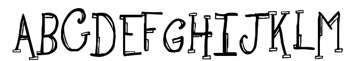 Sketchbook Font UPPERCASE