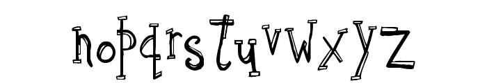 Sketchbook Font LOWERCASE