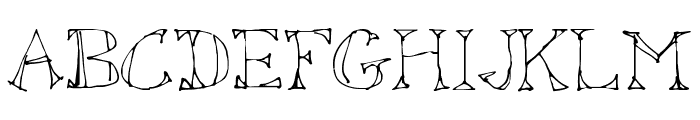 Sketched Out Font UPPERCASE