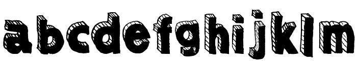 Sketched3dDEMObyMartavanE Font LOWERCASE