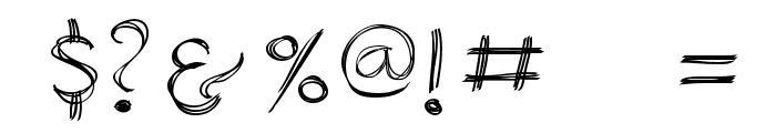 SketchedAlphabet Font OTHER CHARS
