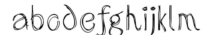 SketchedAlphabet Font LOWERCASE