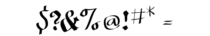 SketchedCassiusBroken Font OTHER CHARS
