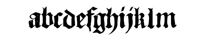 SketchedCassiusBroken Font LOWERCASE