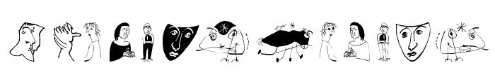 SketchingDiaryOne Font UPPERCASE