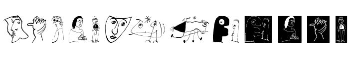 SketchingDiaryOne Font LOWERCASE