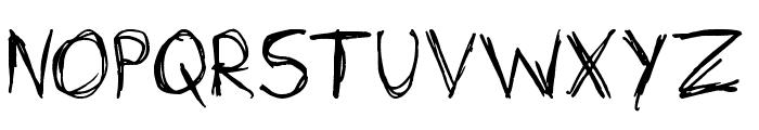 Sketchit Means Sketchit Font UPPERCASE