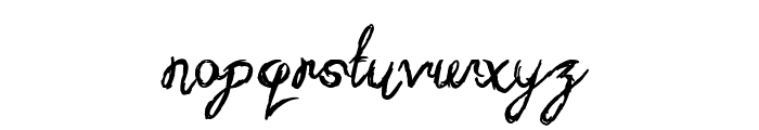 Sketchy Script Font LOWERCASE