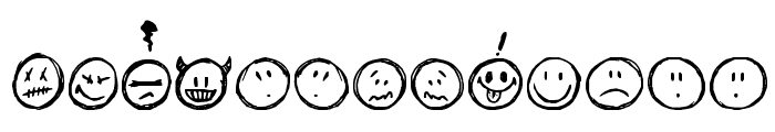 Sketchy Smiley Font LOWERCASE