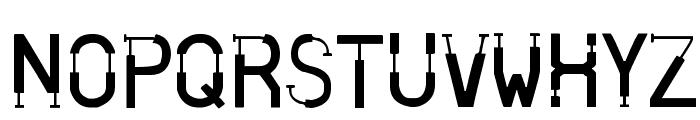 Skinned Font UPPERCASE