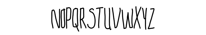 Skinny But Cute~ Font UPPERCASE