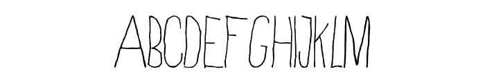 Skinny Regular Font LOWERCASE