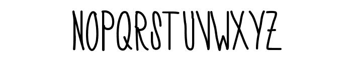 SkinnyNess Font UPPERCASE