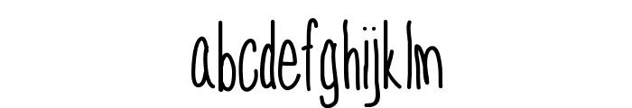 SkinnyNess Font LOWERCASE
