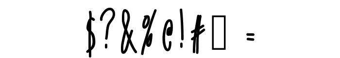 SkinnyVanillaLatte Font OTHER CHARS