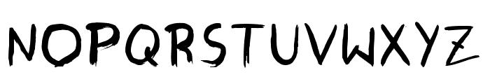 SkippingBrush Font UPPERCASE