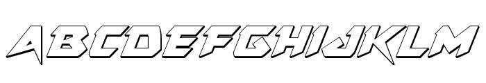 Skirmisher 3D Italic Font UPPERCASE