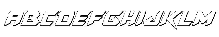 Skirmisher 3D Italic Font LOWERCASE