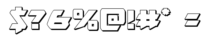 Skirmisher 3D Font OTHER CHARS
