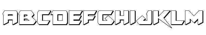 Skirmisher 3D Font LOWERCASE