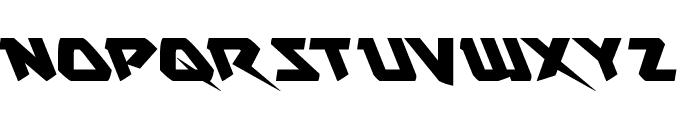 Skirmisher Leftalic Font UPPERCASE