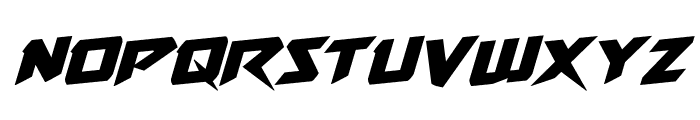Skirmisher Rotalic Font LOWERCASE