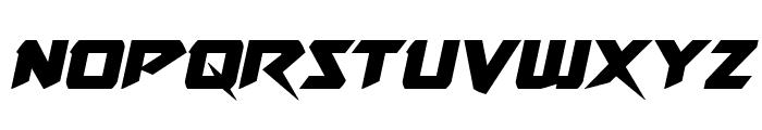 Skirmisher Semi-Italic Font LOWERCASE