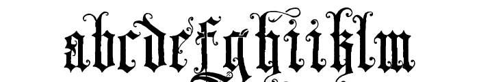 Skjend Hans Gotisk Regular Font LOWERCASE