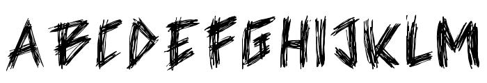 Skratch Regular Font UPPERCASE