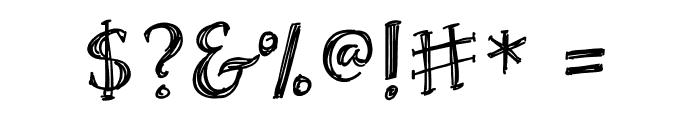 Skrawk Serif Font OTHER CHARS