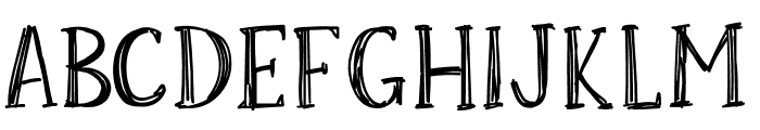 Skrawk Serif Font UPPERCASE