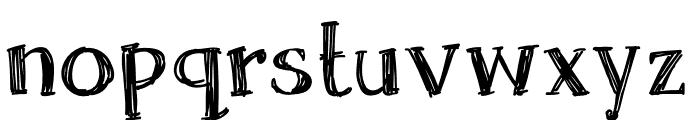 Skrawk Serif Font LOWERCASE