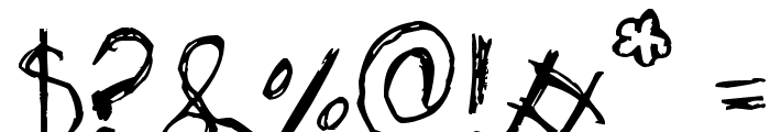 Skribble Font OTHER CHARS