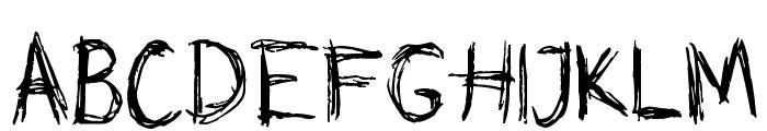 Skribble Font UPPERCASE