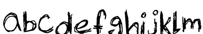 Skribble Font LOWERCASE